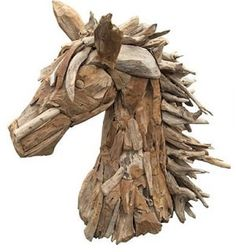 Suppliers of a spectacular life-size driftwood horse, small horse sculpture and driftwood horse heads. Driftwood Sculpture, Horse Sculpture, Driftwood Art, Animal Sculptures, Driftwood Furniture, Driftwood Projects, Log Projects, Funky Decor, Tree Roots