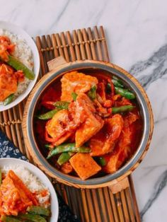 This vegan red curry tofu is a quick, easy, and super flavorful dish that won't have you missing meat! Puffs of fried tofu are the perfect vehicle for a sauce made with Thai red curry paste and coconut milk. Bbq Pork, Pork Roast, Wok Of Life, Curry, Pork Buns, Thing 1, Pork Belly, The Fresh, Vegan Recipes