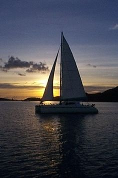 Sailboat + Sunset