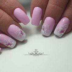 Nail Designs - Nail Art Ideas and Care Tips Valentine's Day Nail Designs, Best Nail Art Designs, Cute Nails, Pretty Nails, Nail Art Printer, Pink Nail Art, Stylish Nails, Nail Art Hacks, Fabulous Nails