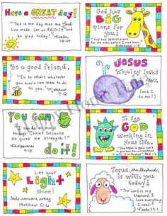 Lunch Box Notes for the whole year!