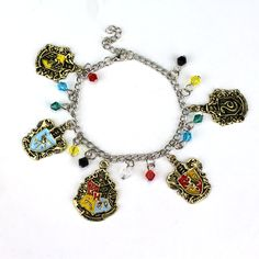 H P bracelet Ravenclaw Gryffindor Salazar Slytherin badge chaveiro llavero Pendant bracelet jewelry