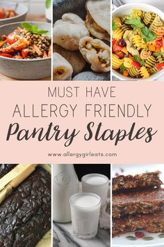 I asked some fellow bloggers with different diets, from food allergies to celiac, to share their favourite pantry staple and their favourite thing to make with it. #allergygirleats #allergyfriendly #foodallergyresources #pantrystaples #allergyfriendlytip #allergytip Coconut Milk Recipes, Dry Coconut, Lentil Recipes, Healthy Recipes, How To Make Granola, Different Diets, Pasta Salad Italian, Celiac, Food Allergies