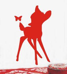 Bambi met vlinder.