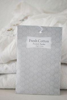 Julias vita drömmar - Doftpåse Fresh Cotton