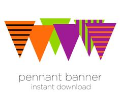 Printable Pennant Banner  Halloween Decoration  by sparkanddelight