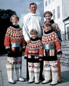 King Frederik of Denmark and family