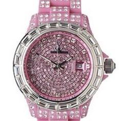 Pink watch with bling?  Oh, yeah....