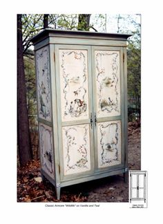 Colonial Armoire - Armoire, Entertainment Centers, painted armoires, hand painted furniture  http://www.paintedfurniturebarn.com/colonial-armoire/