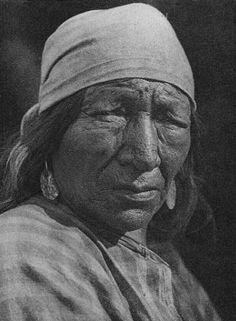 Blackfoot Woman - By Edward S. Curtis - 1926. (B&W version).