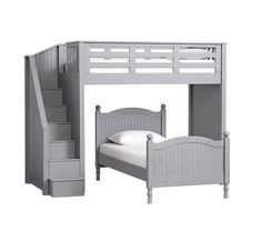 Catalina Stairloft Bed & Twin Bed Set, Charcoal