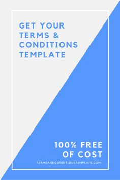 Terms and conditions template generator for your website. Get your template for FREE at http://termsandconditionstemplate.com/generate/