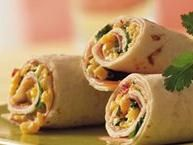 Ham and Cheese Tortilla Roll-Ups ~ You have ever-so-easy Southwest flavor going when you make a creamy cheese and corn filling that you wrap up with ham slices and flour tortillas.
