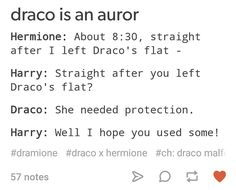 Hermione and Draco, what were u REALLY doing? Harry Potter Feels, Harry Potter Ships, Harry Potter Fandom, Harry Potter Draco Malfoy, Harry Potter Hermione, Harry Potter Quotes, Bubbline, Dramione Headcanons, Drarry