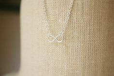 Sterling silver infinity necklace simple by ModestElements on Etsy