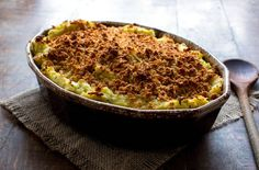 Mashed potato casserole with sour cream and chives
