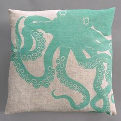 cute octopus!  in love with this color recently.. would be something so fun and different for a beach house