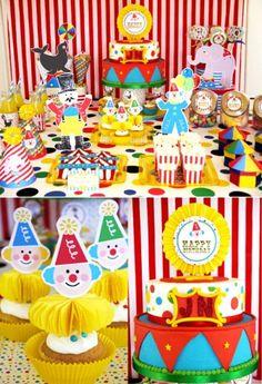 Anniversaire enfant thème cirque