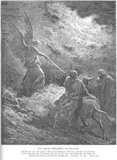An Angel Appears to Balaam - Gustave Dore