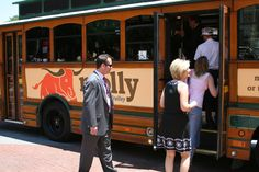 #SeniorTransportation Daycations - Riders of The T's downtown circulator, Molly The Trolley
