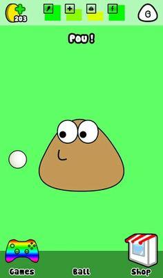 Poo plays ball lol