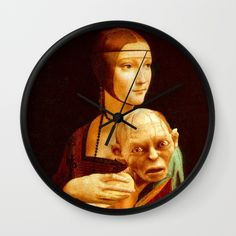 """I enjoyed to work on this """"Lady With Gollum"""". The face of the Lady gets a whole new dimension while holding the sneaky Smeagol. She's like: """"What the hell am I doing with this slimy, stinky creature on my lap?"""" On the other side, Gollum doesn't look too much bothered about the ring, but he has the typical face expression of a baby Jesus. It took three hours to make it and three different pictures of Gollum, to cut the right body parts in the right place. It was totally worth the result."""