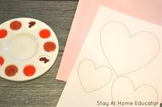 Easy Finger Painting Valentines for Kids to Make