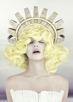pastel yellow hair
