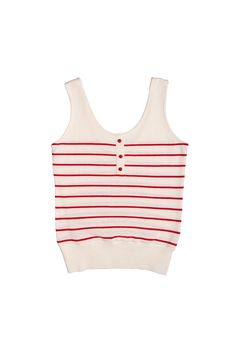 Andrea Top in Ivory/Red by @betinalou
