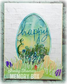 Happy Easter Shaker Card  by Shelby Thomas by the Memory Box Design Team