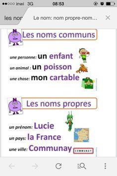 Exemple de nom communs et propres