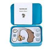 aparelho auditivo mini digital jecpp model. f-188 com 3 baterias