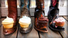 It's like a dream come true...cupcakes and boots!