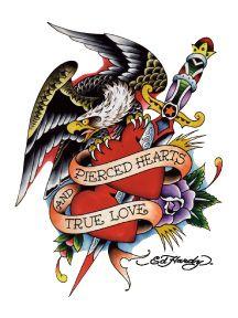 Pierced Hearts And True Love by Ed Hardy True Love Tattoo, Love Tattoos,  Body fef2ef1090