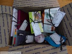 Deployment Survival Kit for the spouse....such a great idea to give the others