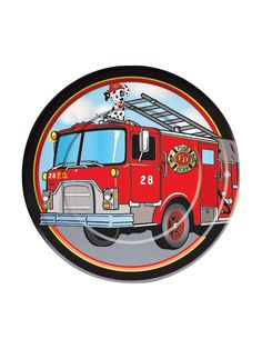 Firefighter Luncheon Plates (8 Pack) - Party Supplies & other Themed Tableware from Birthday in a Box $1.99