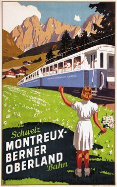Wilhelm Friedrich Burger Schweizer Bahn Montreux Berner Oberland