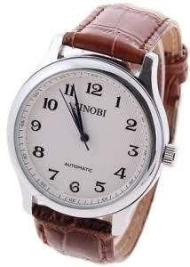 mens watch brown leather strap - Google Search