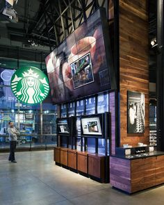 Starbucks In-Store Communications Award for Digital Signage set up w/ social interaction Digital Menu, Digital Signage, Signage Design, Booth Design, Starbucks Shop, Starbucks Times, Starbucks Coffee, Digital Retail, Retail Technology