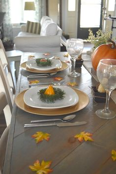 This fall tablescape is filled with great ideas for entertaining during the holidays. Love the low cost finds, with simple how to details.