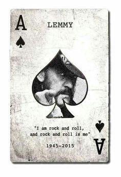 Ian 'Lemmy' Kilmister- December 24th 1945- December 28th 2015. Lemmy didn't set the bar- he WAS the bar!