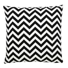 Colorful Geometric Pillow in Black Chevron from the Frog Hill Designs event at Joss and Main