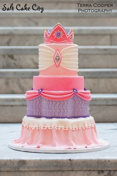 Salt Cake City Made This Princess For A Photoshoot Very Special Little Girl Was Given Free Reign To Make Whatever Pink And Purple