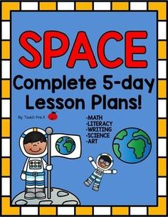 Kids love learning about Space!  This unit plan has everything you need to spark curiosity and engage students in learning about our solar system, gravity, and all things Space!This great unit plan includes:12 Word wall/pocket chart words20 matching cards-matching gameAlien/spaceship letter matchingMy Favorite Planet isprintables Stars to planets count and matchSpace dominoes'Draw and cover solar system matsAlien and Astronaut race game with dice insertsPlanet size comparison unifix cube…