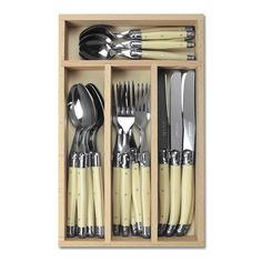 Laguiole Cutlery Set Of 24 - Ivory White | Occa-Home UK