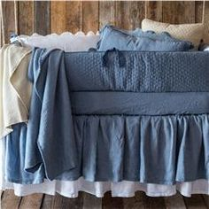Buy Linen Crib Dust Ruffle online with free shipping from thegardengates.com