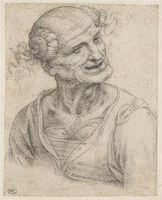 Leonardo da Vinci, Vieille femme à mi-corps, le cou décharné ('Vieille Léda')