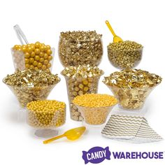 Wedding Food Just found Gold Premium Candy Buffet Kit: 25 to 50 Guests Thanks for the Gold Candy Buffet, Candy Buffet Tables, Candy Table, Bulk Candy, Candy Store, Chocolates, Buffet Dessert, Gold Milk, Bar A Bonbon
