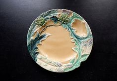 French Antique Asparagus and Artichoke by Vintagefrenchlinens, $150.00