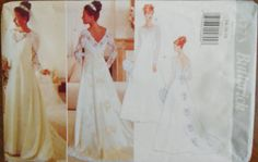 Butterick 4773.  Bridal gown pattern.   1996 by AminasAttic